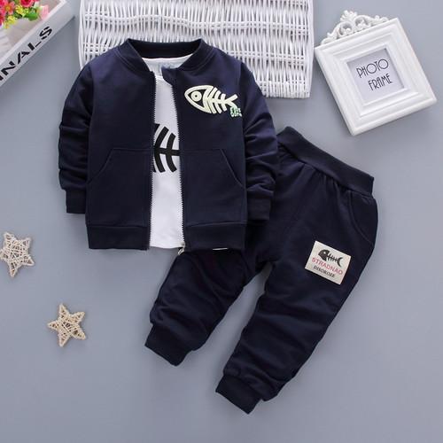 2017 New Autumn Baby Girls Boys Minion Suits Infant/Newborn Clothes Sets Kids Coat+T Shirt+Pants 3 Pcs Sets Children Suits
