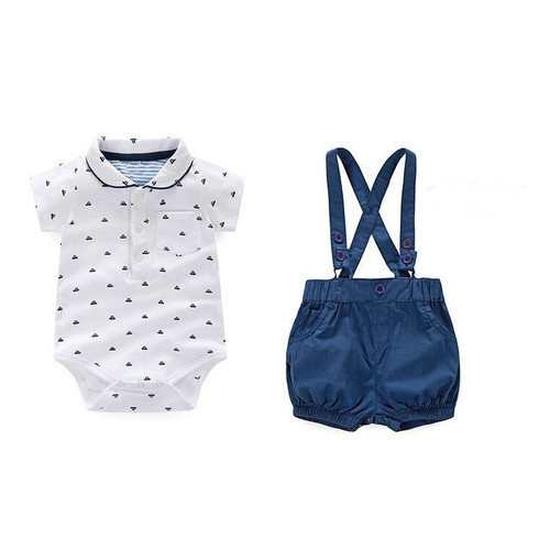 Newborn Baby Boy Clothes Childrens Infant Clothing Sets Kids Baby Boy Suit gentleman clothes T-shirt +Pants+Bow For Weddings