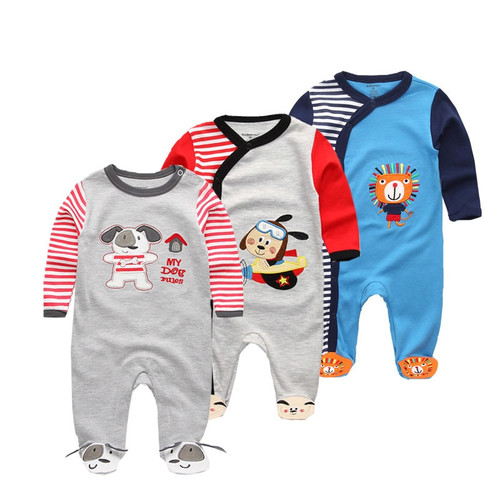3 PCS/lot newbron 2018 winter long sleeve baby clothing set baby jumpsuit girls baby girl romper roupa bebe baby boy clothes