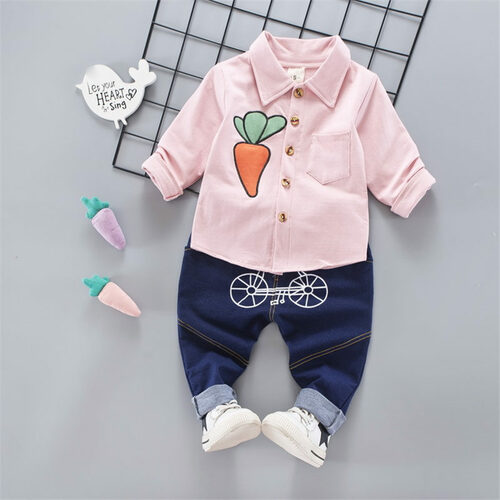 BibiCola baby boys clothing set pants + shirt children boys clothes sets carrot pattern kids child sports suits toddler sets