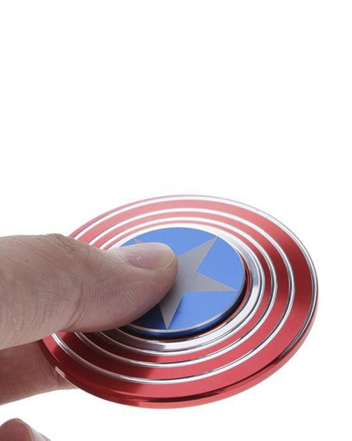Captain America Shield Metal Fidget Hand Spinner
