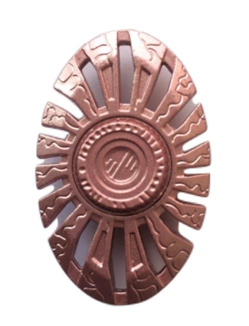 Oval Pink Metal Fidget Hand Spinner