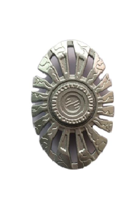 Oval Silver Metal Fidget Hand Spinner