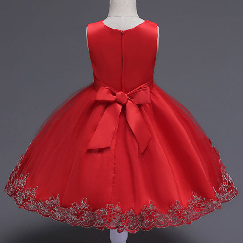 Mottelee Girls Dress Mesh Flower Children Party Dresses Baby Wedding Ball Gown Birthday Kids Frock Christening Clothing for Girl