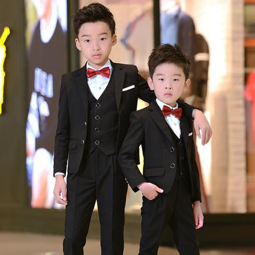 2018 Children suits set boy black blazers suit teenagers jacket clothes kids party blazer costume formal boys suits for weddings