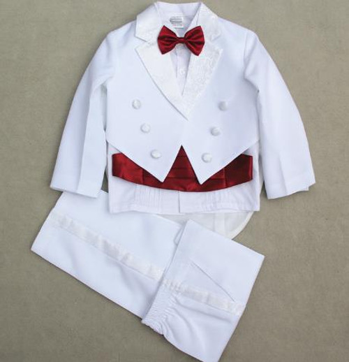 2018 fashion white/black baby boys suit kids blazers boy suit for weddings prom formal spring autumn wedding party boy suits set