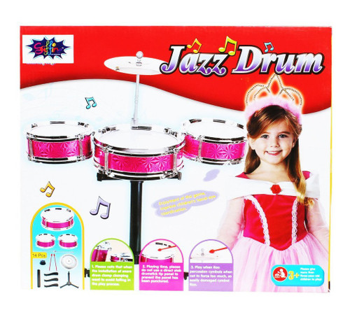 JAZZ DRUM SET MULTI-COLOR FOR KIDS-1