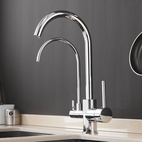 Filter Kitchen Faucets Deck Mounted Mixer Tap 360 Rotation with Water Purification Features Mixer Tap Crane For Kitchen WF-0176