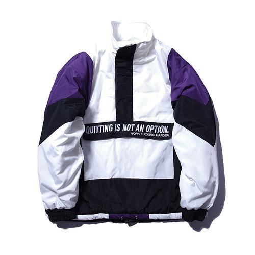 Aelfric Eden Vintage Color Block Patchwork Pullover Jackets Mens Hip Hop Embroidery Windbreaker Jacket Winter Streetwear FC01