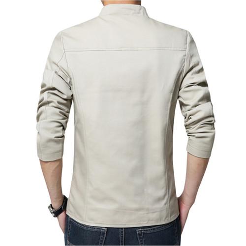 2018 brand men spring autumn casual jacket men's Slim fit cottoon jacket and coat Mens stander collar jacket veste homme