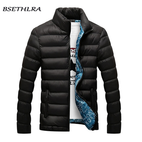 BSETHLRA 2018 Jackets Men Winter Hot Sale Windbreak Cotton Added Casual Slim Fit Mens Coats And Jackets Brand Clothing Parka Men