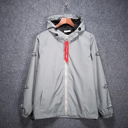 3m Reflective Jacket Men Hip Hop Anorak Streetwear Mens Jackets Japan Street Style Windbreaker Rave Clothes Jaqueta Masculina