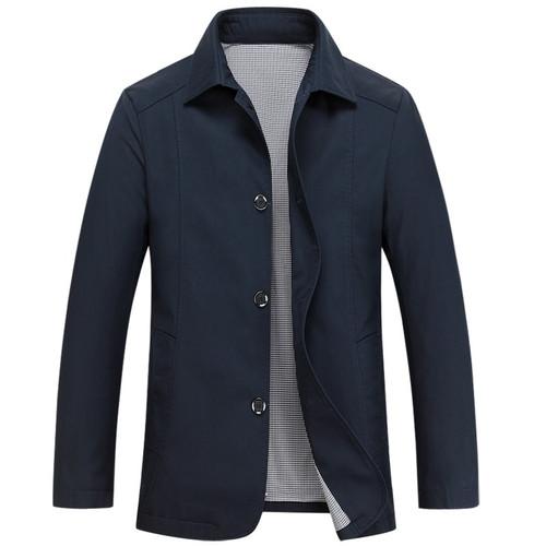 7044d86b9ac Mu Yuan Yang 2018 Spring New Men Jacket Business Casual Turn-down Collar  Single Breasted