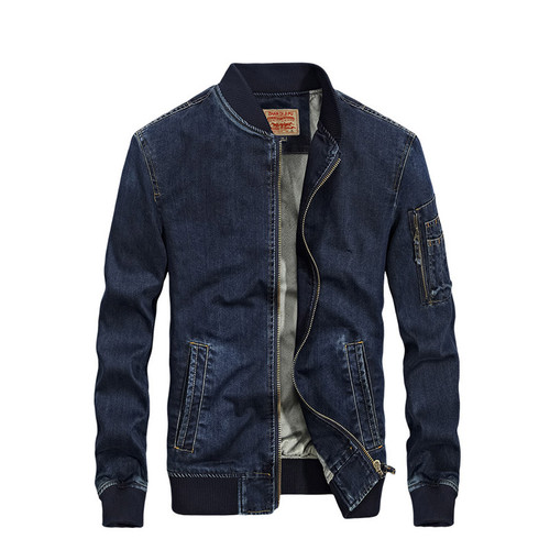 2018 New Arrival Denim Spring Autumn Winter Jacket Men Fleece Jeans Jacket 2 Colors Outerwear Windproof Coat