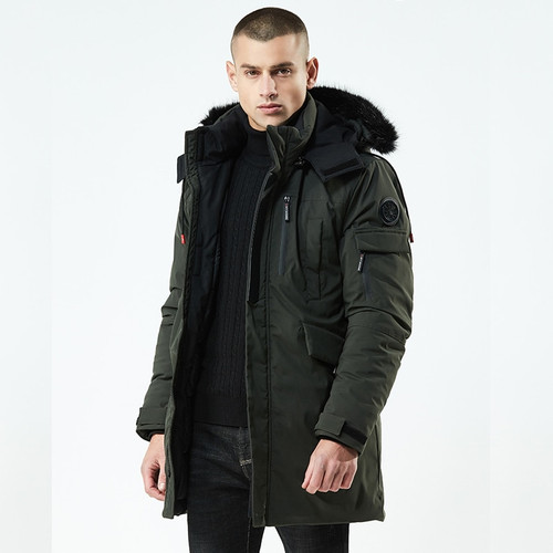 Fashion Winter Parkas Men -30Degrees New Jacket Coats Men Warm Coat Casual Parka Thickening Coat Men For Winter 8Y21F
