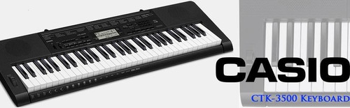 Casio 61-Key Portable Keyboard, Black (CTK-3500)