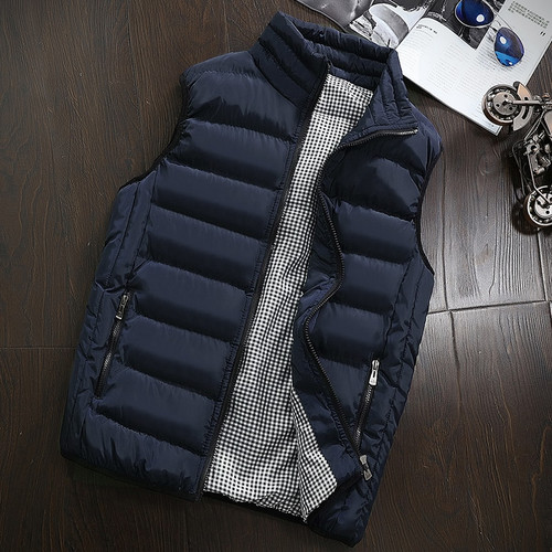 Brand Clothing Autumn Winter Sleeveless Vest Male Fashion Casual Slim Coat Vest Waistcoat Men's Waterproof Jacket Plus Size 5XL