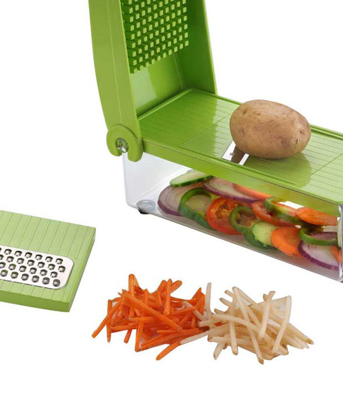 Famous unbreakable 5in1 Slicer & Dicer Grater Plus Multi Chopper Vegetable Cutter Peeler