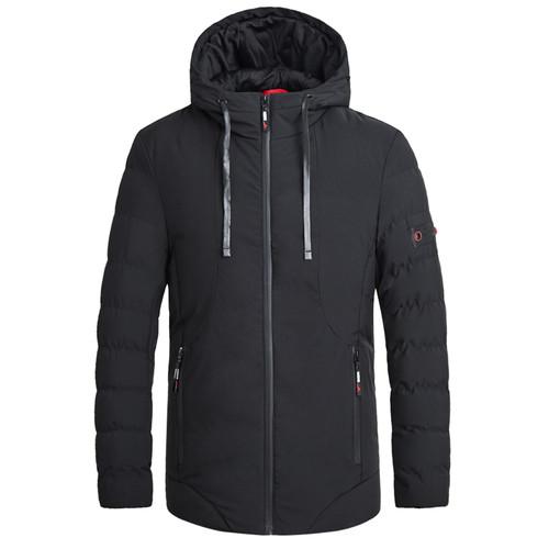 4XL 2018 Winter Autumn Men Casual Hooded Thermal Jacket Parka Coat Men Brand New Fashion Solid WaterProof Jackets Parkas Men