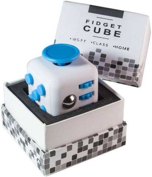 Fidget Cube -WHITE & BLUE)