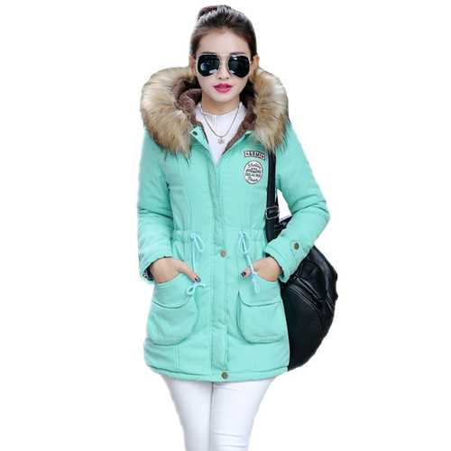 New Long Parkas Female Womens Winter Jacket Coat Thick Cotton Warm Jacket Womens Outwear Parkas Plus Size Fur Coat 2018