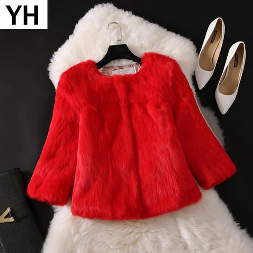 2018 New Hot Sale Lady Real Rabbit Fur Coat Genuine Real Rabbit Fur Jacket Casual Full Pelt 100% Natural Rabbit Fur Waistcoat