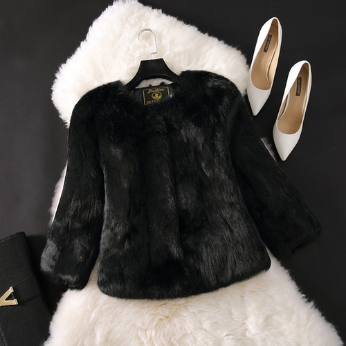 2018 New Hot Sale Lady Real Rabbit Fur Coat Genuine Real Rabbit Fur Jacket Casual Full Pelt 100% Natural Rabbit Fur Waistcoat