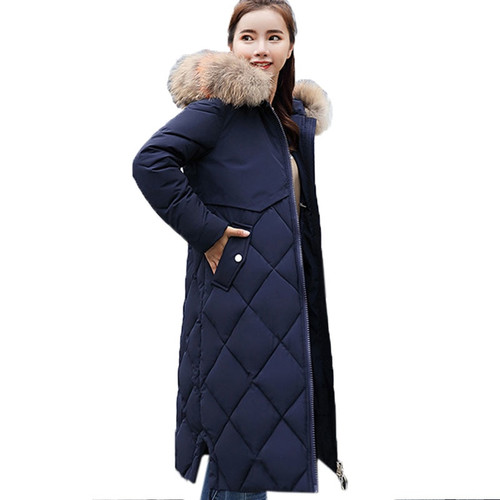 Plus Size Winter Women Jacket Coat Big Fur Hooded Warm Winter Parka Jackets Long Thicken Down Cotton Jacket Women parkas mujer