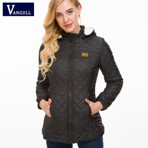 Vangull Winter Jacket Women Thick Warm Hooded Parka 2018 New Slim Down cotton clothing Long sleeve Coat Female Autumn Outerwear