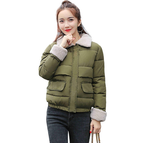 2017 New Hot Sale Women Autumn Winter Joker Jackers Short Thicken Warm Female Parkas Braed Overcoat High Quality