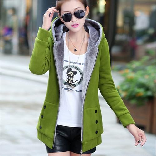 2018 Spring Autumn Jackets Women Casual Hoodies Coat Cotton Sportswear Coat Hooded Warm Jackets Plus Size M-3XL