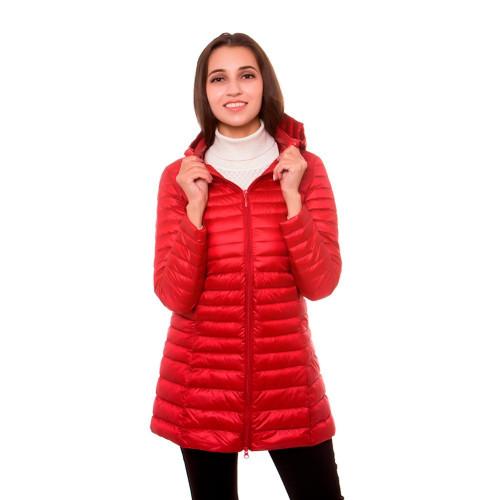 [Aiweier] Women's Ultralight Down Jackets Hooded Zipper Long Nylon Jackets White Duck Down Coats Winter For Girls Parkas Garment
