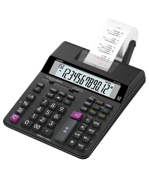 Casio Two-Color Printing Calculator, 12-Digit LCD (HR-150RC)