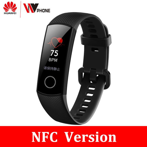 Original Huawei Honor Band 4  nfc version  Smart Bracelet 50m Waterproof Color ouch screen Heart Rate Sleep Snap Smart Wristband