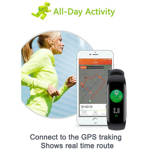 YUEDAER Smart Wristband Heart Rate Monitor Blood Pressure Pedometer Bracelet Fitness Tracker Smart Band Waterproof Sports Watch