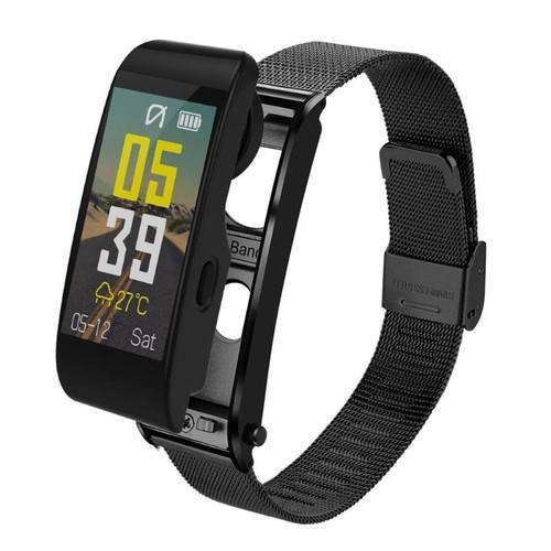 ALLOYSEED Bluetooth Smart Bracelet Watch Handsfree Call Music Player Sport Wristband Headset Fitness Tracker Heart Rate Monitor