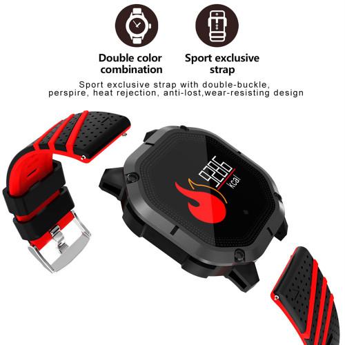Betreasure K5 Smart Wristband Color Screen Blood Pressure/Heart Rate Monitor Fitness IP68 Waterproof Bluetooth Smart Watch