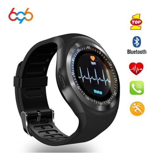 696 NEW Sport smart watch Y1HR Heart Rate monitor Passometer smart watch men Fitness Tracker smart bracelet Information Display