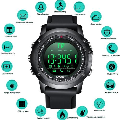 BANGWEI Smart Watch Men Bluetooth Pedometer Stopwatch Waterproof Digital LED Electronics Sport Watches Men Smartwatch relogios