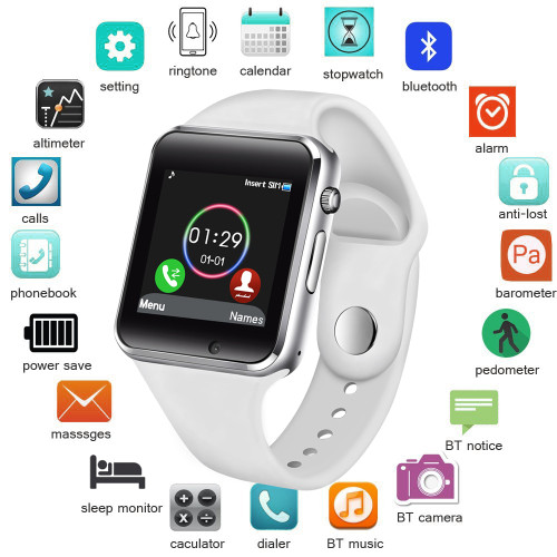 BW Smart Watch Men Women Support SIM TF Card Bluetooth Call Pedometer Waterproof Sport Smartwatch Android IOS relogio masculino