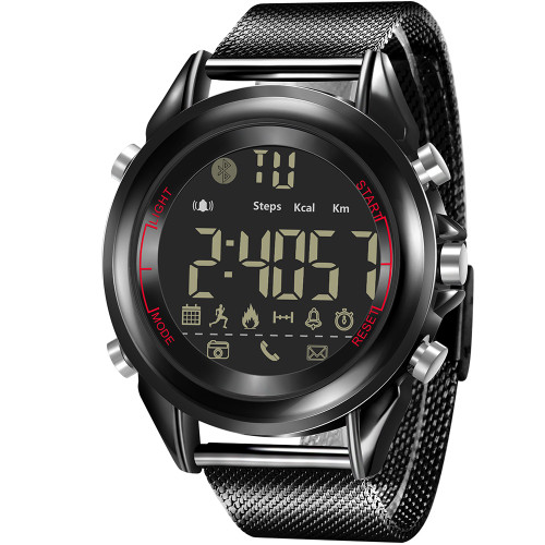 Fashion Bluetooth Smart Watch Men Sports Pedometer Calories Waterproof Led Digital Milanese Steel Women Fitness Wristwatches