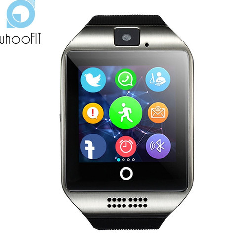 Bluetooth Smart Watch Men Camera Facebook Whatsapp Twitter Sync SMS Smartwatch support  SIM TF Card Clock For IOS Android