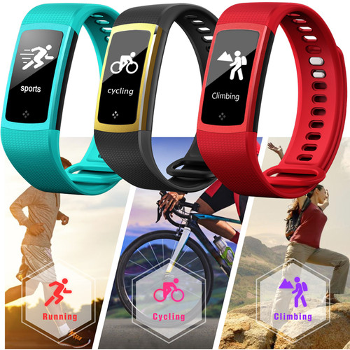 2018 Smart Bracelet WristBand Watch Fitness Heart Rate Monitor Blood Pressure Oxygen Waterproof Alloy sport Wristwatch Men Women