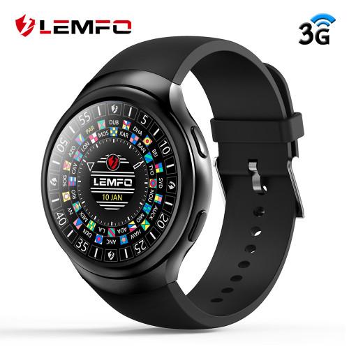 LEMFO LES2 3G Smart Watch Phone Android 1GB + 16GB Smartwatch GPS Wifi Watch Heart Rate Monitor Bluetooth Wristwatch Men Women