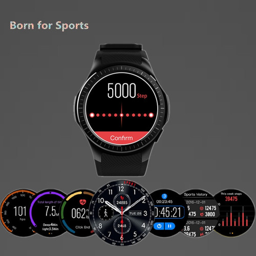 ZUCZUG Smartwatch Phone 1.3'' L1 Bluetooth GPS Heart Rate Measurement Pedometer Sleep Monitor Smart Watch For Android IOS Men