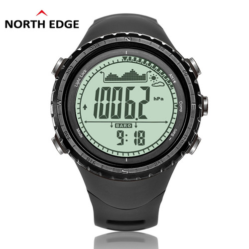 Men Sports Watch Altimeter Barometer Compass Thermometer Weather Forecast Pedometer Watches Digital Running Climbing Wristwatch