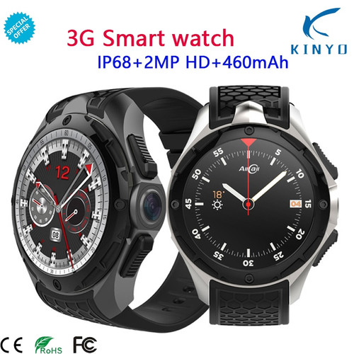 3G Smart Watch Phone IP68 Waterproof  Android 7.0 2GB + 16GB Support SIM card GPS WiFi Wrist 460mAh Smartwatch For Men Women