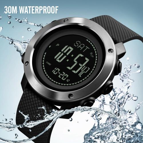SKMEI 2018 NEW Men Women Lovers Watches Climbing Compass Pedometer Stopwatch 1427 Electronic Watch Relogio Masculino