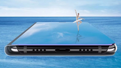 Clear View Window Smart Mirror Flip Case For LG V30 V40 Protective phone Cover For LG V40 Coque Funda With Sleep/Wake Function