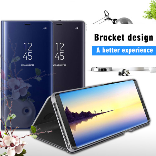 Mirror Effective Smart View Flip Cases For Samsung Galaxy J6/J4 Prime A8 2018 J3 J4 J6 J7 2018 S8 S9 Plus Note 9 J2 J5 J7 prime